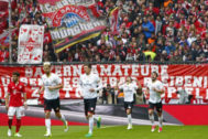 Imagen de un partido entre el Bayern y el Mainz en la temporada 16/17