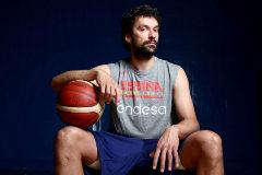 Madrid, 26 de julio de 2019. Sergio <HIT>Llull</HIT>, jugador de la selección española de baloncesto, posa después de un entrenamiento.