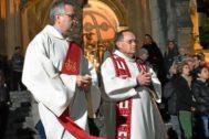 Antoni Burguera y Marià Gastalver durante la pasada Semana Santa en Sóller.