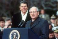 El INF fue firmado por Ronald Reagan y Mijaíl Gorbachov en 1987.