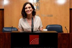La candidata del PP a la Presidencia de Madrid, Isabel Díaz Ayuso.