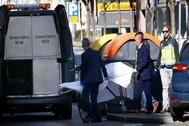 En febrero un indigente encontró a un bebé en un contenedor de basura en Madrid.