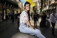 La cantante Amaia Romero en el centro de Madrid.