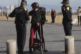 Control policial en la zona de playas de Barcelona