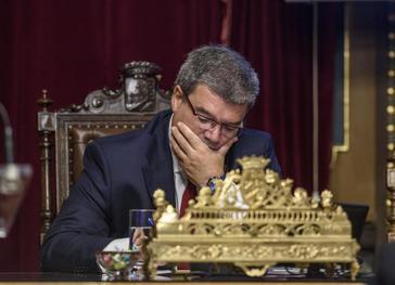 El alcalde de Bilbao, Juan María Aburto, en el Ayuntamiento.