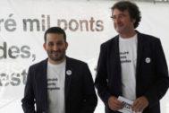 Vicent Marzà y Rubén Trenzano, de la Conselleria de Educación.