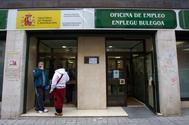 Oficina de Empleo de Lanbide del barrio de Santutxu, en Bilbao.