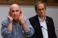 Lluís Llach y Quim Torra