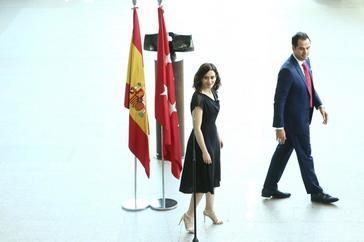 Isabel Díaz Ayuso (PP) e Ignacio Aguado (Cs).