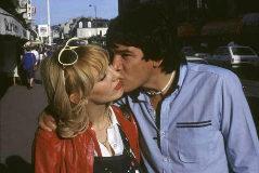 Monzón, en 1983, junto a su entonces esposa, Alicia Muñiz.