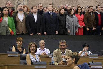 Bildu y Vox, las fotos envenenadas