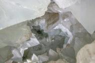 Cristales de la geoda gigante de Pulpí.