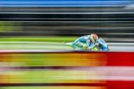 Rins, durante la última sesión libre en Brno.