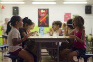Imagen de uno de los talleres de la fundación
