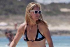 Arantxa Sánchez Vicario durante unas vacaciones en Formentera