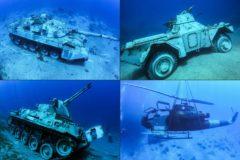 Un museo submarino de armas tomar: helicópteros, tanques y baterías antiaéreas bajo el mar Rojo