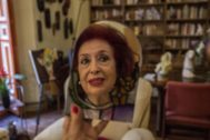 La activista feminista Lidia Falcón, en su casa, recientemente.