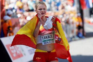 Julia Takacs, tras lograr el bronce en 20 km marcha del último Europeo.