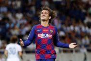 Griezmann,luciendo ya este verano la camiseta del FC Barcelona.