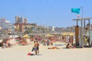 La playa del Arenal.