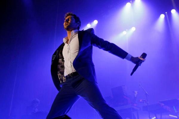 El cantante David Bisbal en un concierto en Barcelona en junio de 2018