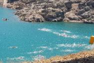 Una de las jornadas de travesía a nado por los pantanos de Jaén.