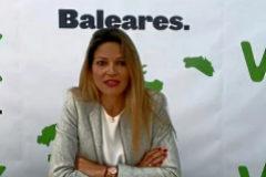 Núria Díez, ex tesorera de Actúa Vox, el día en que fue presentada como 'número 4' de la candidatura al Parlament.