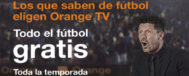 Imagen promocional de la nueva oferta de Orange, protagonizada por Simeone.