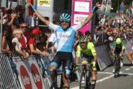 El ciclista italiano de Israel Academy Davide Cimolai