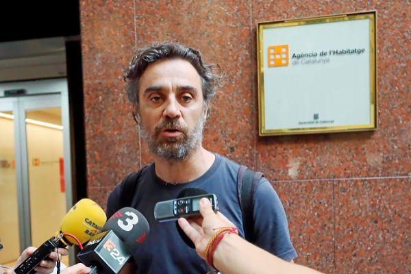 Santiago Mas, portavoz de la PAH