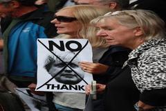 Edinburgh (United Kingdom).- People gather outside as Britain's Prime Minister Boris Johnson meets with <HIT>Scotland</HIT>'s First Minister Nicola Sturgeon at Bute House, Edinburgh, <HIT>Scotland</HIT>, 29 July 2019. (Reino Unido, Edimburgo) EPA/