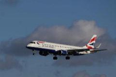 Un E190 Embraer de la flota de British Airways.