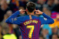 Coutinho, el día en que se encaró con la afición del Camp Nou.