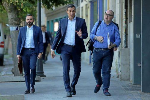 Pedro Sánchez, a su llegada a las reuniones de este martes
