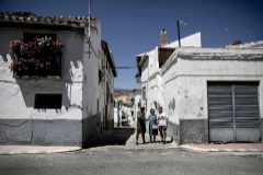 Un grupo de vecinas de la región de Baza, en Granada