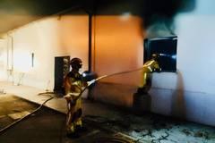 Bomberos sofocan esta pasada madrugada el incendio en las instalaciones de Onda Jaén.