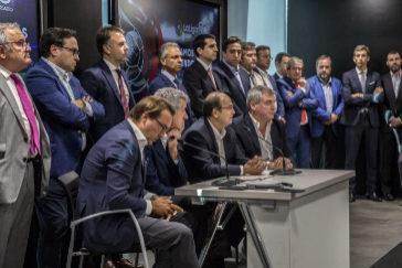 Imagen de la reunión de la asamblea de clubes de futbol de La Liga