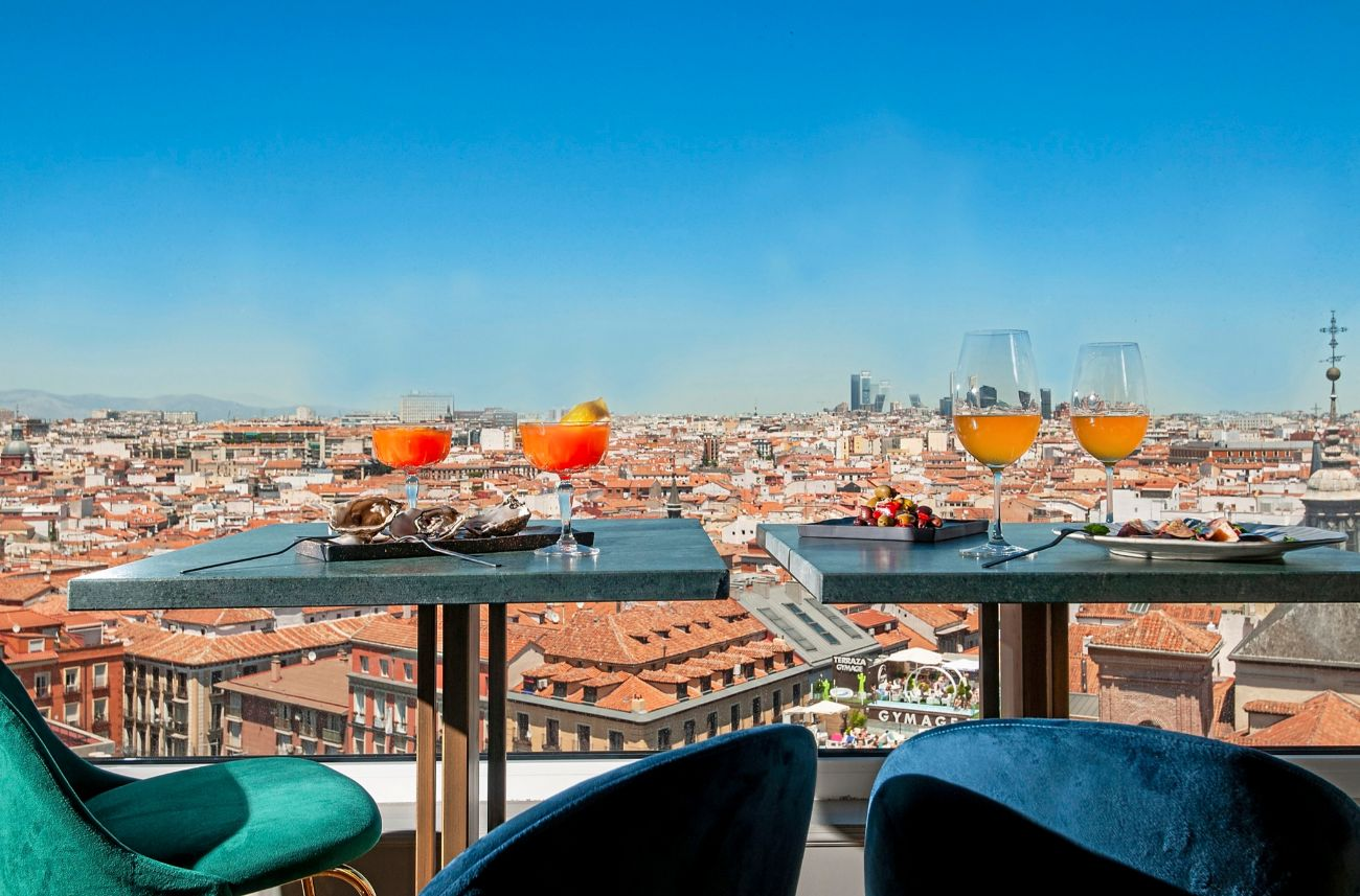 Es una de las azoteas con las, posiblemente, mejores vistas de Madrid....