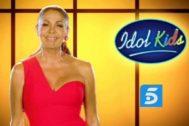 Isabel Pantoja en un anuncio de Idol Kids en Telecinco