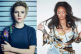 La actriz Scarlett Johansson  y la cantante Rihanna.