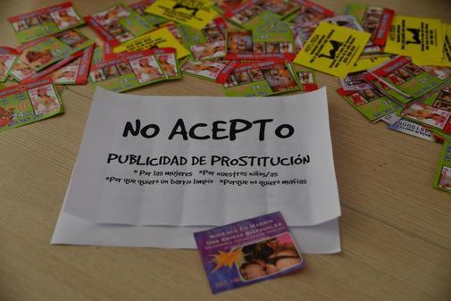 Campaña contra la prostitución en un barrio madrileño en 2017