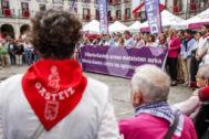 Concentración contra la agresión sexual en Vitoria durante las fiestas de La Blanca.