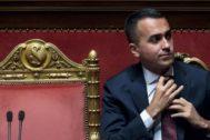 Luigi Di Maio durante la sesión de hoy del Senado, en Roma.