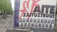 Foto de presos de ETA en el recinto festivo de Vitoria.