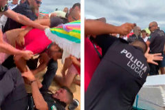 Apuñalan al jefe de la Policía Local en un operativo contra la venta ilegal de latas en la playa