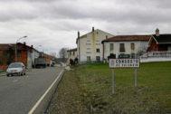 Entrada del pueblo Congosto de Valdavia (Palencia).