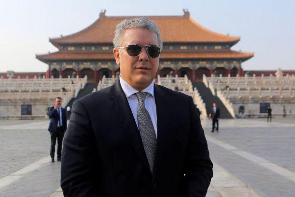 Beijing (China).- Colombian President Ivan <HIT>Duque</HIT> Marquez...