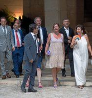 La delegación del Govern Balear, encabezada por Armengol y sin sus socios de Més y Podemos.
