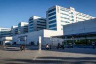 Vista del hospital La Fe de Valencia.