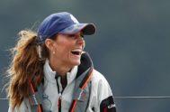 Kate Middleton en la Isla de Wight (Inglaterra) participando en la Regata de la Copa del Rey de vela